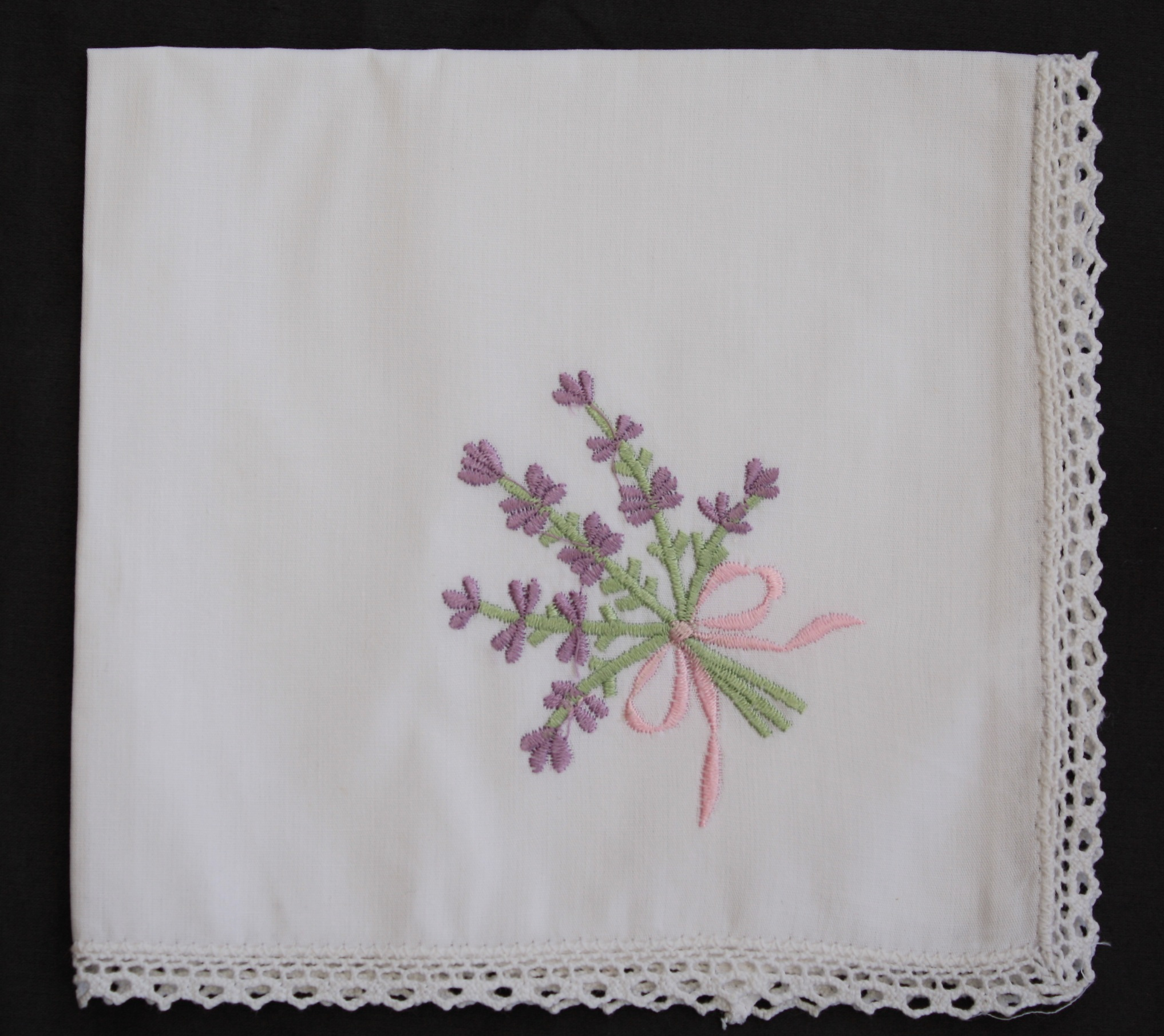 Embroidered Handkerchiefs Single Rosewood Designs Pillow With Embroider Sweet Dream