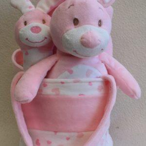 Rabbit 4 Piece Set - Blanket, Rattle, Micro Terry & Bag
