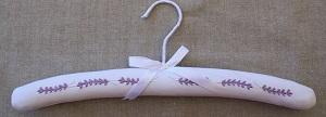Coat Hanger - Lavender Tucks