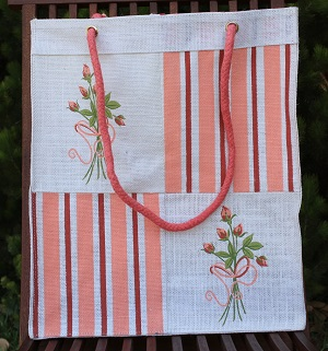 Floral Jute Carry Bag
