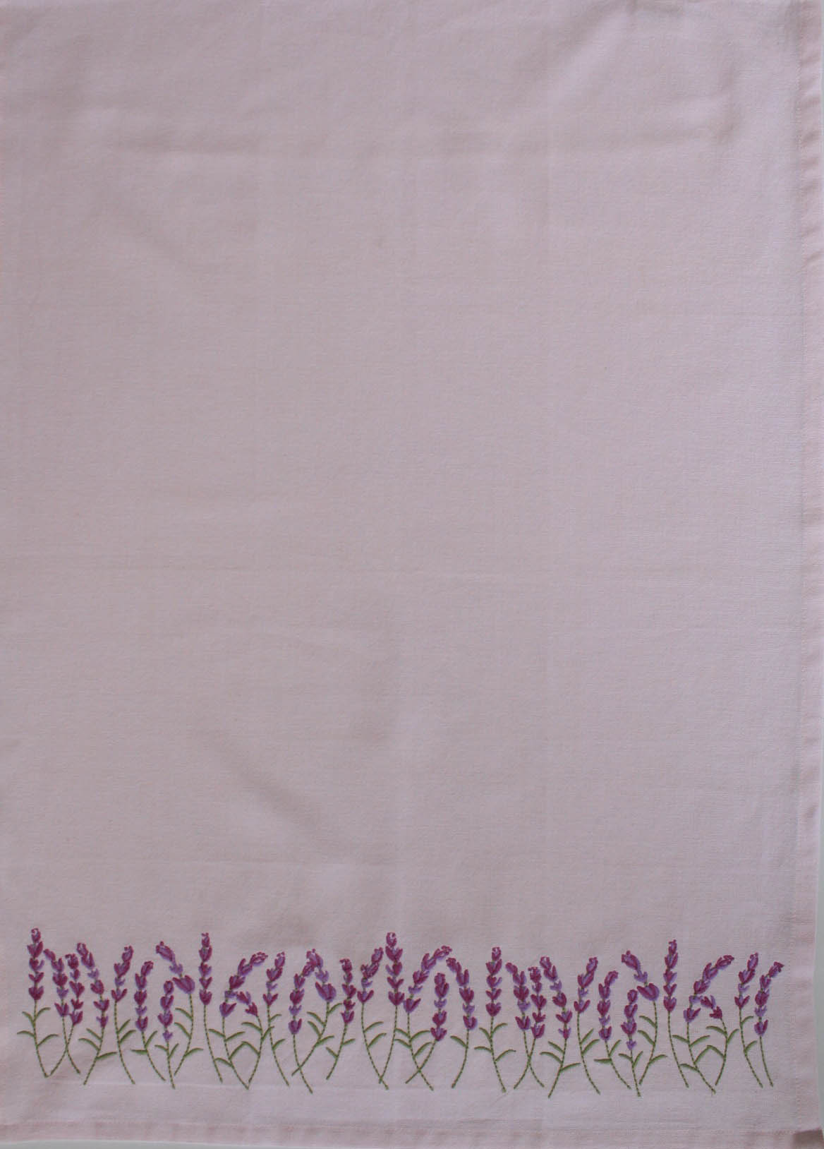 Tea Towel - Lavender Border Embroidery