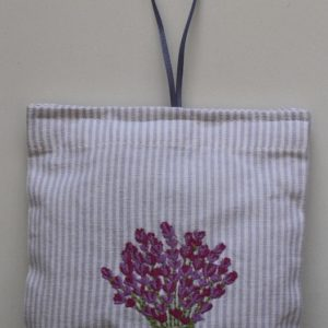 Lavender Bouquet Embroidered Sachet (Filled) 14x14cm