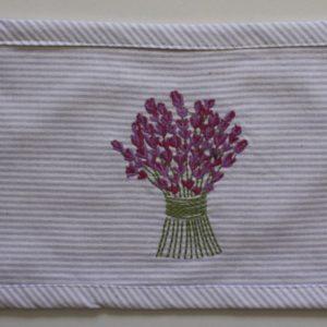 Lavender Bouquet Embroidered Heat Pillow (Empty) 30x14 cm