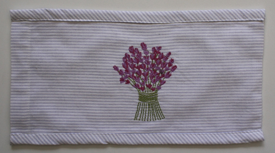 Lavender Bouquet Embroidered Heat Pillow (Empty) 30x14 cm