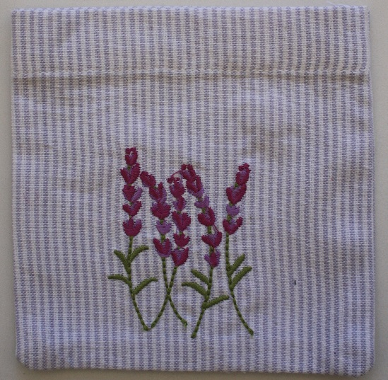 Lavender Embroidered Sachet (Empty) 14x14cm