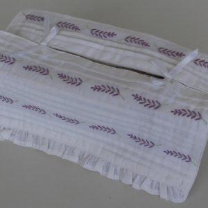 Tissue Box Cover - Lavender Tucks