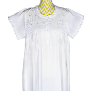 Short Sleeved Nightgown - Blue Smocking - Now Available in Sizes L/XL & XL/XXL