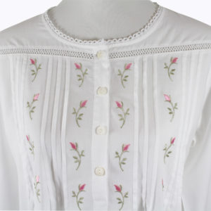 Sweet Dreams Long Sleeved Nightgown - Rosebud Tucks