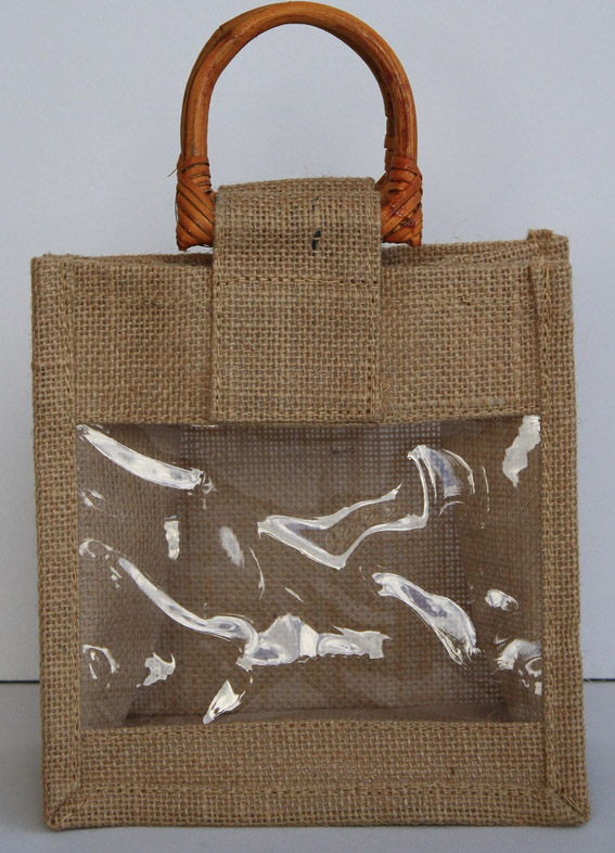 Cane Handle Bag with Face