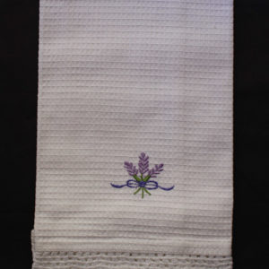 Waffle Guest Towel Embroidered