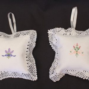 Large Empty Sachet  Embroidered - 13.5 x 13.5 cm